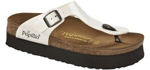 fec22cfd9d Image is loading PAPILLIO-BIRKENSTOCK-GIZEH-PLATEAU-THONG-WEDGE -PATENT-WHITE-