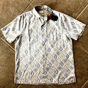 Tommy Bahama Indian Ikat 100% Silk Camp Shirt Mens S NWT $118 Continental Multi
