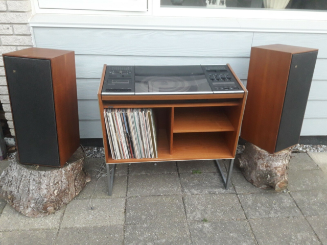 Stereoanlæg , Bang & Olufsen, God, retro teak set up.…