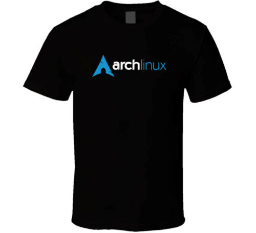 ARCH LINUX Logo shirt black white tshirt men/'s free shipping