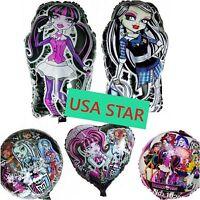 Set Of 5 Xl Monster High Party Foil Balloon