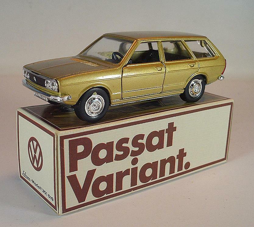 Schuco 1/43 VOLKSWAGEN VW PASSAT VARIANT champagne in pubblicitari-BOX #6669