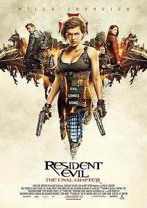 Resident Evil Final Chapter  A4 Glossy Poster  Film Movie Free Shipping 241 - Caterham, United Kingdom - Resident Evil Final Chapter  A4 Glossy Poster  Film Movie Free Shipping 241 - Caterham, United Kingdom
