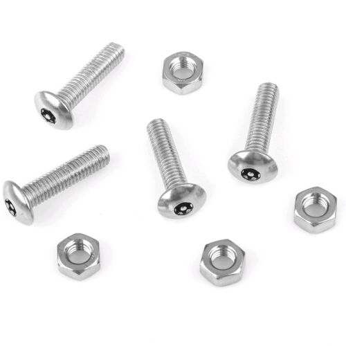 4x Car Anti Theft Anti-Tamper Security License Plate Screws Stainless Universal