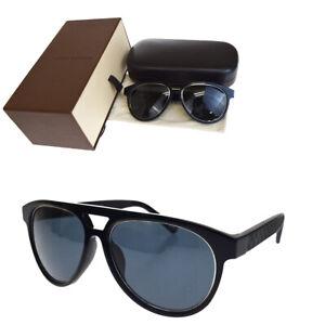 0a35bb227304 Image is loading Authentic-LOUIS-VUITTON -Sunglasses-Damier-Plastic-Black-Z0795E-