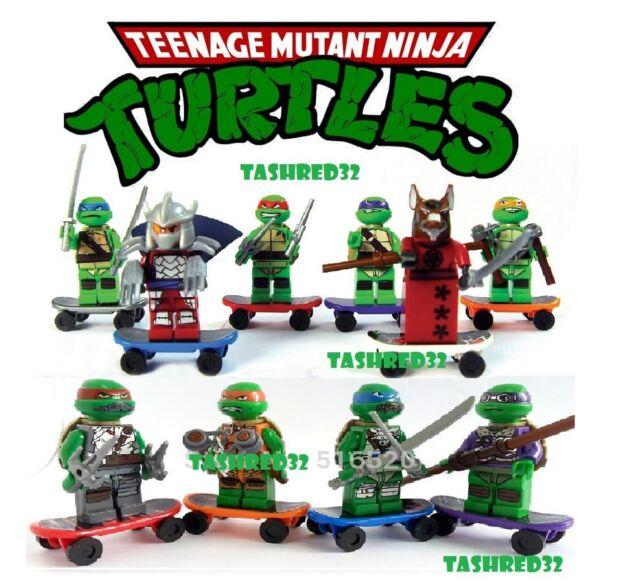 Teenage Mutant Ninja Turtles 6 figurines compatible LEGO Les Tortues Ninja