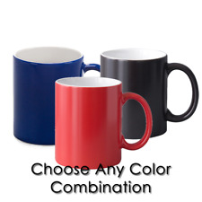 12pcs Sublimation 11oz Coffee Changing Color Mugs Blanks Red Blue And Black
