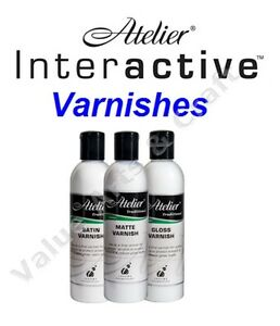 Details about Atelier Interactive Acrylic Varnish - Matte, Satin, Gloss