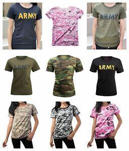 Womens-Ladies-Army-Hunt-Gym-Training-Running-Boot-Camp-Camo-T-Shirt-Top-Tee
