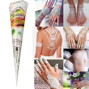 White Natural Herbal Henna Cones Temporary Tattoo Kit Body Art Paint Mehandi Ink Ebay