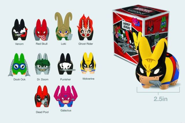 KIDROBOT MINI MARVEL LABBITS SERIES 1 PUNISHER DESIGNER TOY ART