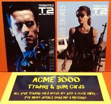Unstoppable - Terminator 2 T2 Promo Cards PR1 Schwarzenegger & PR2 Hamilton