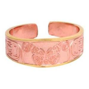 Solid-Copper-Ring-Butterfly-Gold-Handmade-Jewelry-Gift-Band-Monarch-Design-New