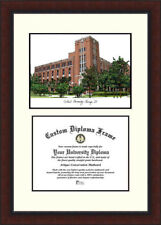 Campus Images Ncaa Hampton University Pirates Scholar Lithograph Diploma Frame For Sale Online Ebay