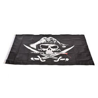 Large Skull & Cross Crossbones Sabres Swords Jolly Roger Pirate Flags 3x5