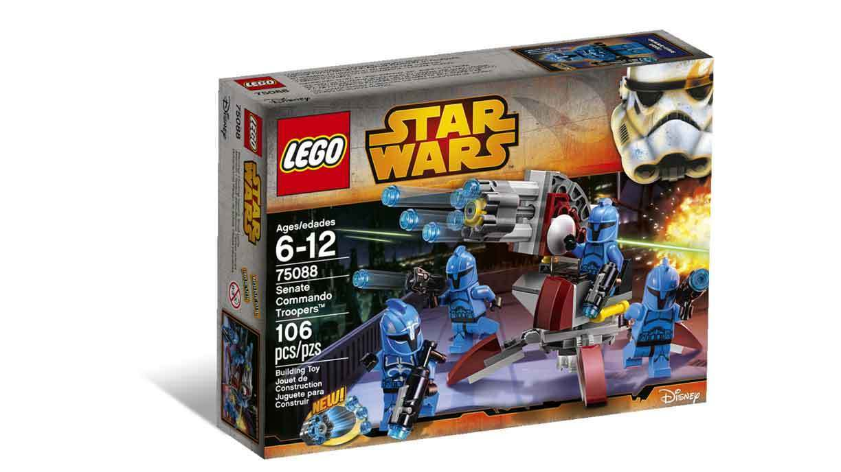 LEGO Star Wars_75088_106 pcs pzs_Senate Commando Troopers_New Sealed Set