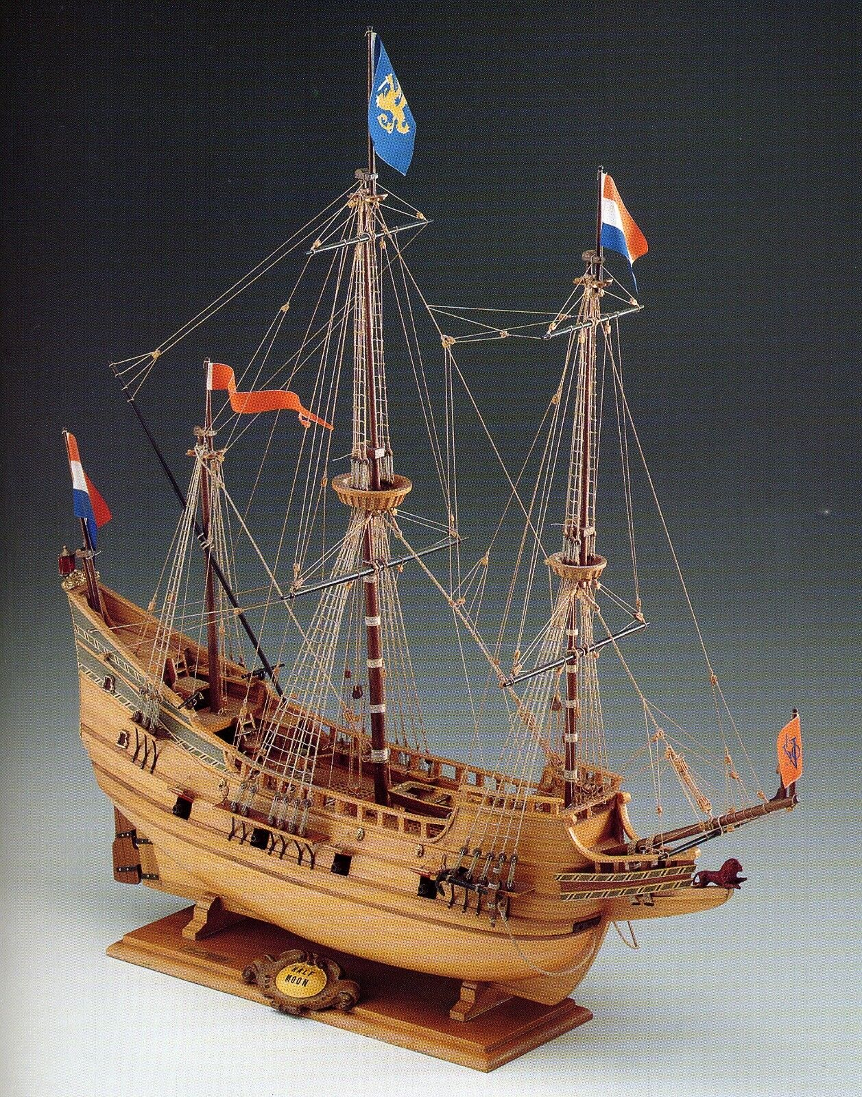 COREL SM18 BARCA Modello Modello Modello imbarcazione Nave HALF MOON GALEONE olandese 1 50 02f094