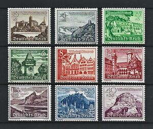 DR WWII Germany WW2 MNH Stamps Hitler's Castle Tower Church Landscapes War
