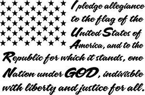 LARGE I PLEDGE ALLEGIANCE TO THE FLAG AMERICA DECAL STICKER VINYL ...