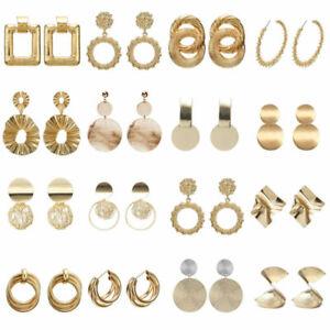 UK-Womens-Earrings-Round-Square-Dangle-Ear-Studs-Geometry-Drop-Earrings-Fashion