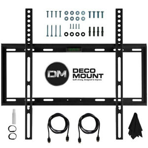 TV-Wall-Mount-Kit-for-45-90-Inch-TV-039-s-with-HDMI-Slim-Flat-Deco-Mount