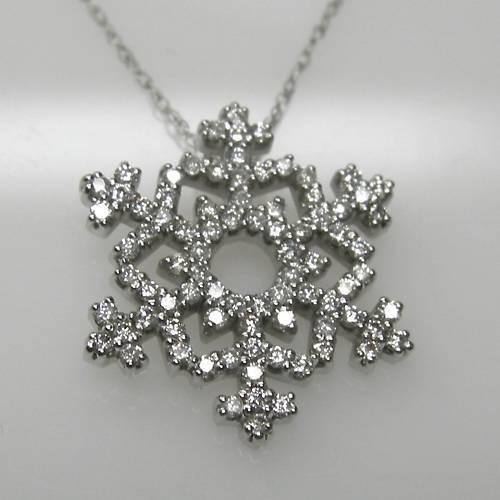 SNOWFLAKE PENDANT IN 14K WHITE gold WITH 3 8 CARAT DIAMONDS RETAIL  1999