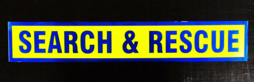 Search /& Rescue Fluorescent Magnetic Warning Sign