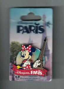 Disney-DLRP-Paris-Minnie-Mouse-with-Eiffel-Tower-Pin-New-on-Card
