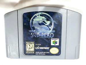 Mortal Kombat mitologías Sub-zero Nintendo 64 N64 Auténtico Original Equipment Manufacturer Raro juego de video