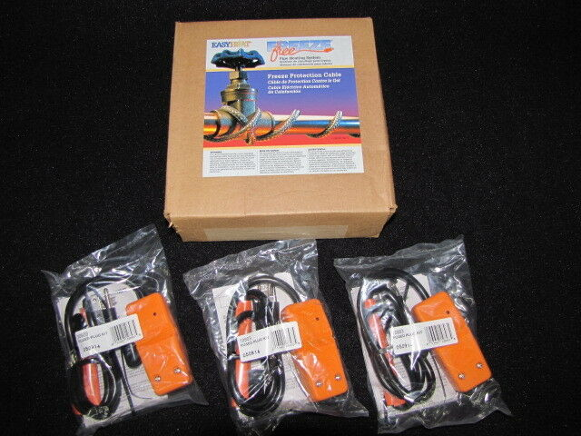 Easy Heat Tape Waterline Trace Heater Freeze Protection 100' w/ 3 Plug Heads