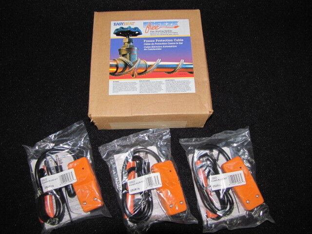 Easy Heat Tape Waterline Trace Heater Freeze Protection 100' w/ 3 Plug Heads