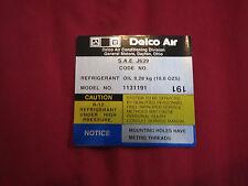 1980 CHEVROLET CAMARO Z28 Z/28 Z-28 AIR CONDITIONING COMPRESSOR DELCO AIR DECAL