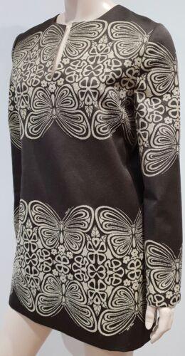 robe Mini manches Paul à à Brown imprimées Brown Joe 42 courte fleurs longues R6dSF6xqrw