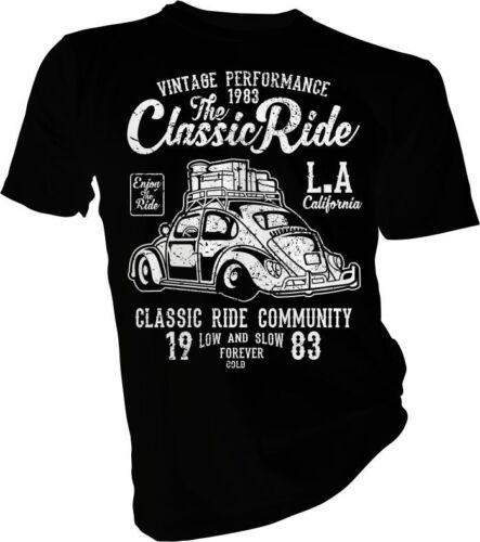 Car Vintage Classic Bug Cars LA Adult /& Kids T-Shirt The Classic Ride