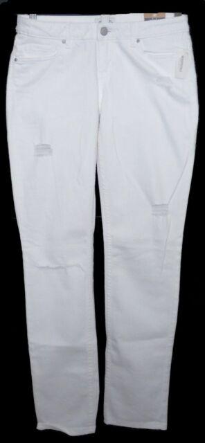 Womens AEROPOSTALE Bayla Skinny Destroyed White Jeans size 9/10 R NWT #0201