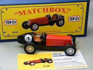 Matchbox-MoY-Code-2-YSW-03-ERA-R1B-Rennwagen-rot-schwarz-blaue-Box-1-von-9-OVP