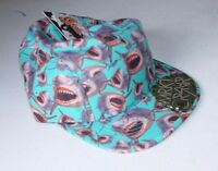 Mrkt Crshr Sharks Mens 5 Panel Hat Shark Blue Great White Ocean Jaws Summer Surf