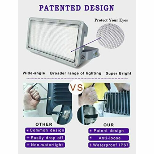 Lights Details about  /50W LED Flood Light Outdoor 5000lm 6500K Cold White IP67 Waterproof