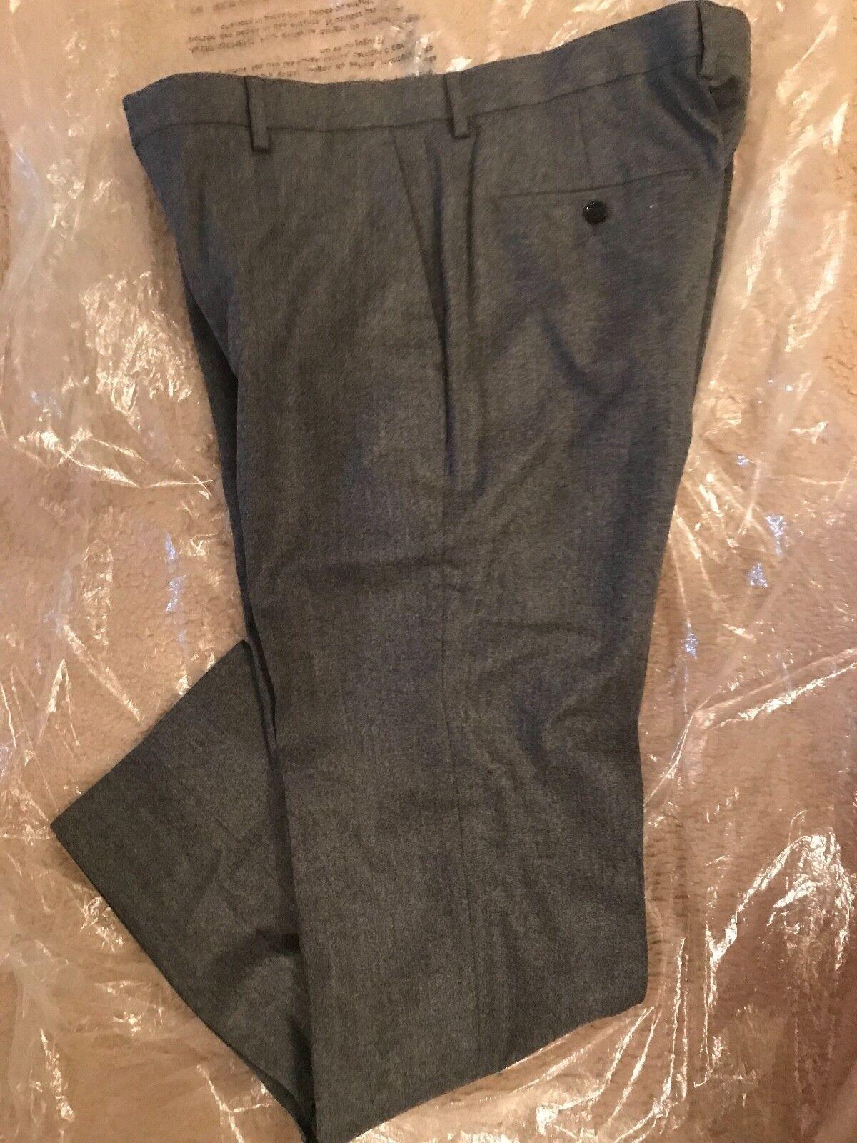 J.Crew Ludlow Abito Pantalone in Violaceo Italiana Lana Flanella Taglia 32