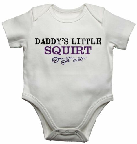 Daddys Little Squirt Funny Baby Vest Personalised Bodysuits Gift Present