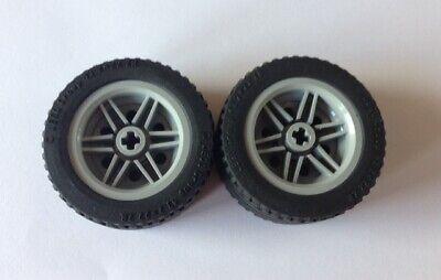 Lego® 4 x Technic Reifen 43,2x22 ZR Felge grau Technik 43,2 x 22 L104