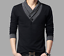 Fashion-Men-039-s-Casual-V-Neck-Cotton-Tops-Blouse-Slim-Short-Long-Sleeve-T-Shirt thumbnail 6
