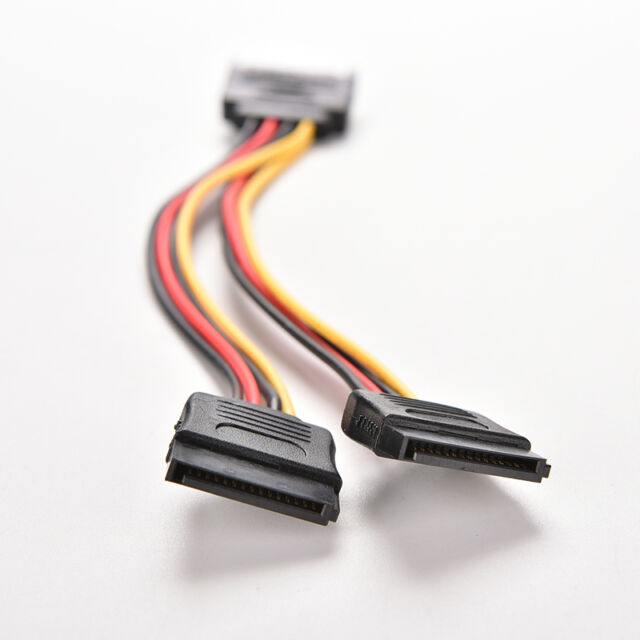 1 pc 15 Pin SATA Male to SATA Female 1 to 2 Y Splitter Power Cable  Z