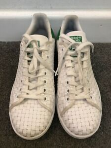 retroceder internacional paleta  Adidas Original Stan Smith Woven White & Green Mens Trainers UK 5 / FR 38 |  eBay