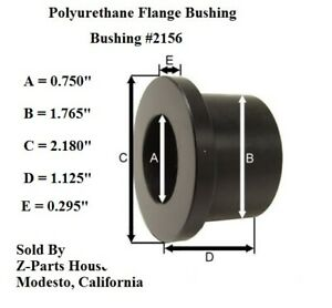 2156G-1-3-4-034-O-D-x-3-4-034-034-I-D-x-1-1-8-034-Polyurethane-Flange-Type-Bushing
