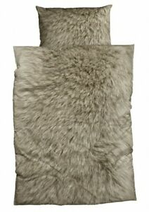 Bettwäsche Animal Fur braun Biber  CASATEX  135x200 cm