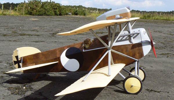 HANSA BRANDENBURG D.1, Jagdflugzeug. 1918. Modellbauplan