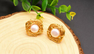 B15-Freshwater-Pearls-IN-Gold-Plated-Nest-From-Gold-Wire