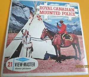 VINTAGE 1960s VIEW-MASTER REELS ROYAL CANADIAN MOUNTED POLICE