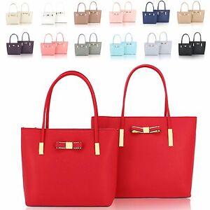 Bow Handbags 2 Bucket Shoulder Bags